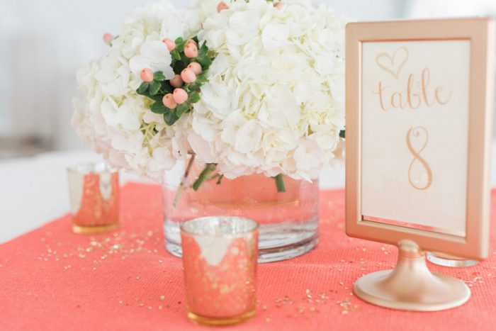 Coral & Gold Terrace Wedding at the Hyatt House from Madeline Jane Photography featured on Burgh Brides