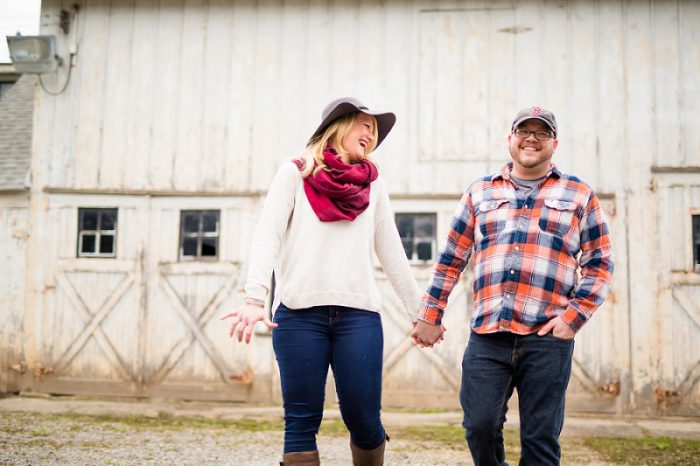Playful Zelienople Engagement Session from Jenna Hidinger Photography featured on Burgh Brides