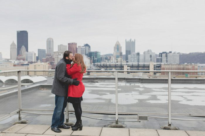 Urban Rooftop Engagement Session Carly Jared Burgh Brides