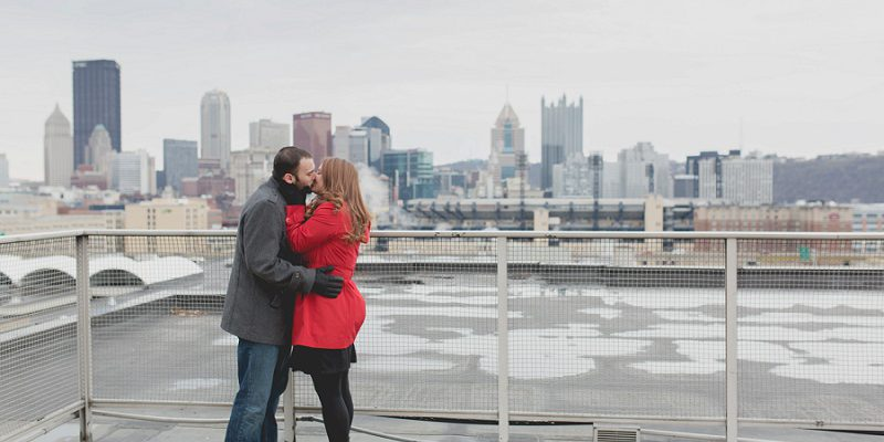 Urban Rooftop Engagement Session: Carly & Jared