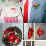 Poppy Red Wedding Inspiration from Burgh Brides