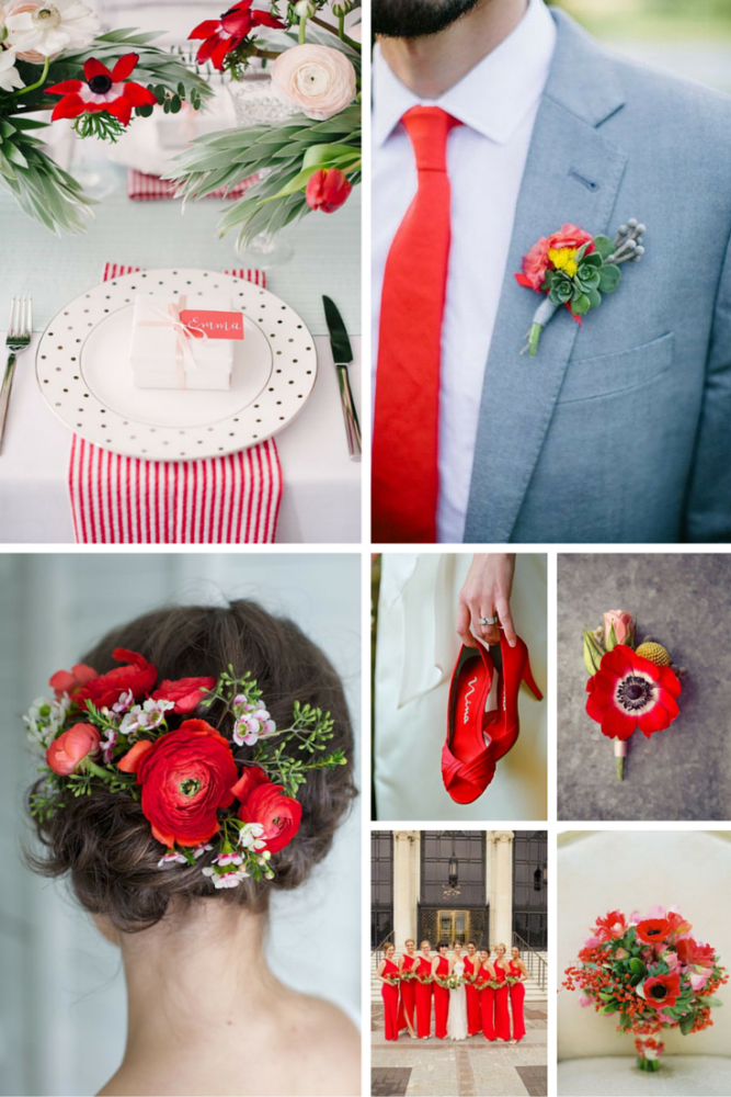 Poppy Red Wedding Inspiration from Burgh Brides
