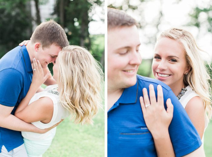 Duquesne University Engagement Session from Lauren Renee Designs featured on Burgh Brides
