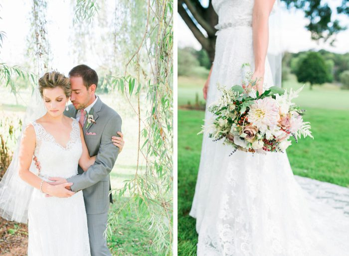 Glamorous Garden Chic Wedding from Ashley Giffin Photography featured on Burgh Brides