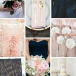 Navy, Blush, & Gold Wedding Inspiration from Burgh Brides