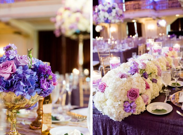 Purple And Gold Wedding.Decadent Purple Gold Wedding At The Omni In Pittsburgh