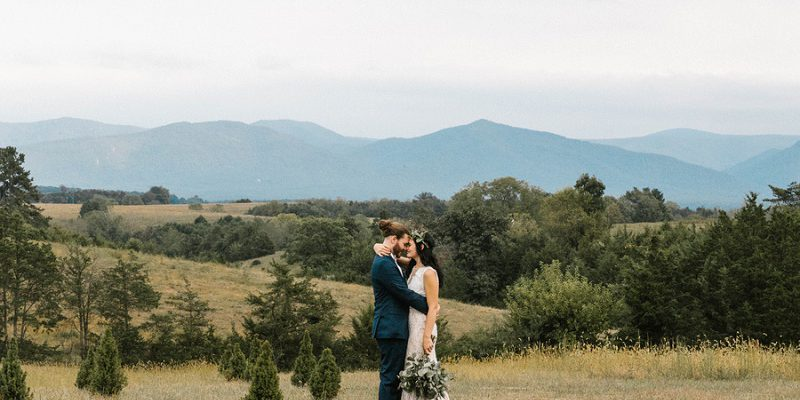 Earthy Boho Wedding at CrossKeys Vineyards: Alexa & Jason