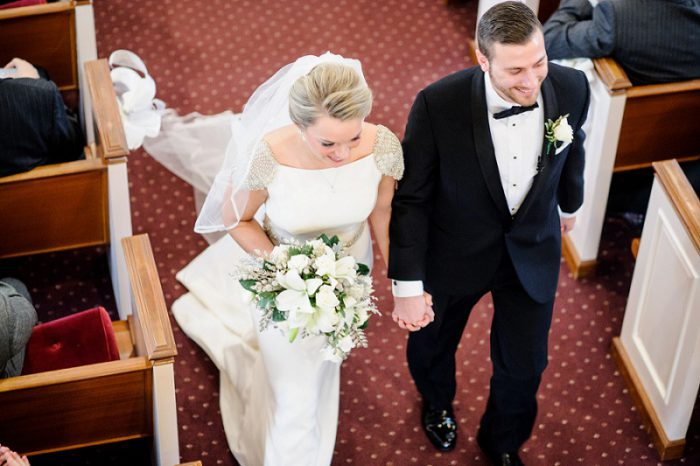 Glittery White & Silver Wedding from Alison Mish Photography featured on Burgh Brides