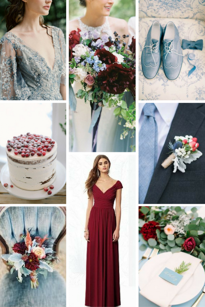Cranberry Dusty Blue Wedding Inspiration From Burgh Brides
