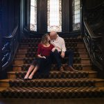 Charming Historic Mansion Engagement Session from Matt Gaydos Photography featured on Burgh Brides