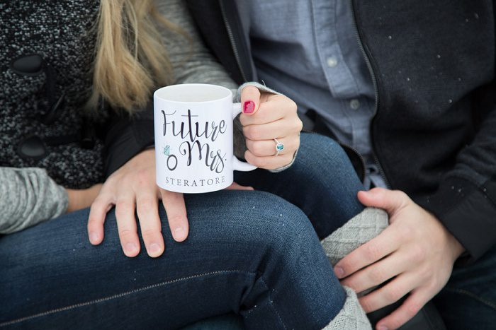 Cozy, Snowy Engagement Session from 2ndIINone Productions featured on Burgh Brides