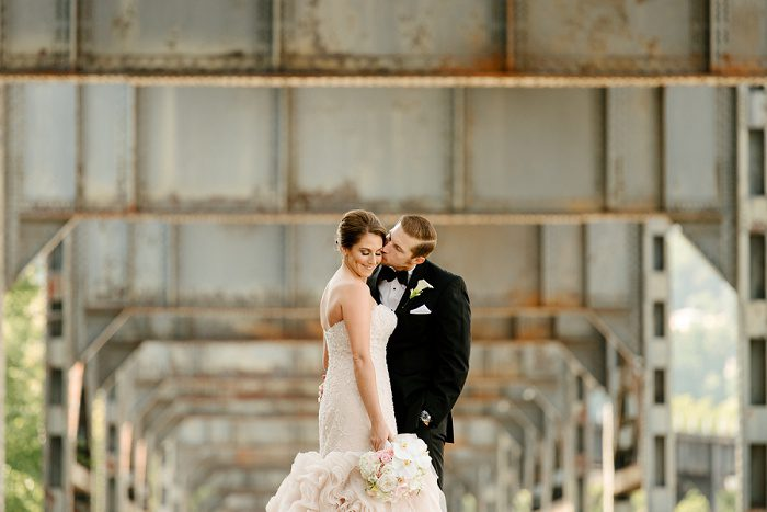 Dazzling Pink & Gold Wedding from Aaron Varga Photography featured on Burgh Brides