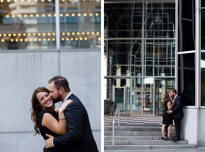 Fancy Downtown Engagement Session from Susan Stefko Photography featured on Burgh Brides