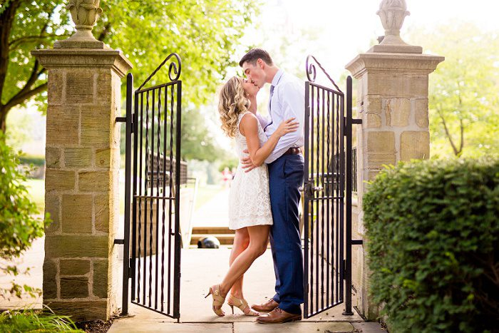 Grove City Engagement Session from Jenna Hidinger Photography featured on Burgh Brides