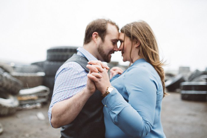 Gaming Inspired Strip District Engagement Session from Sandrachile featured on Burgh Brides