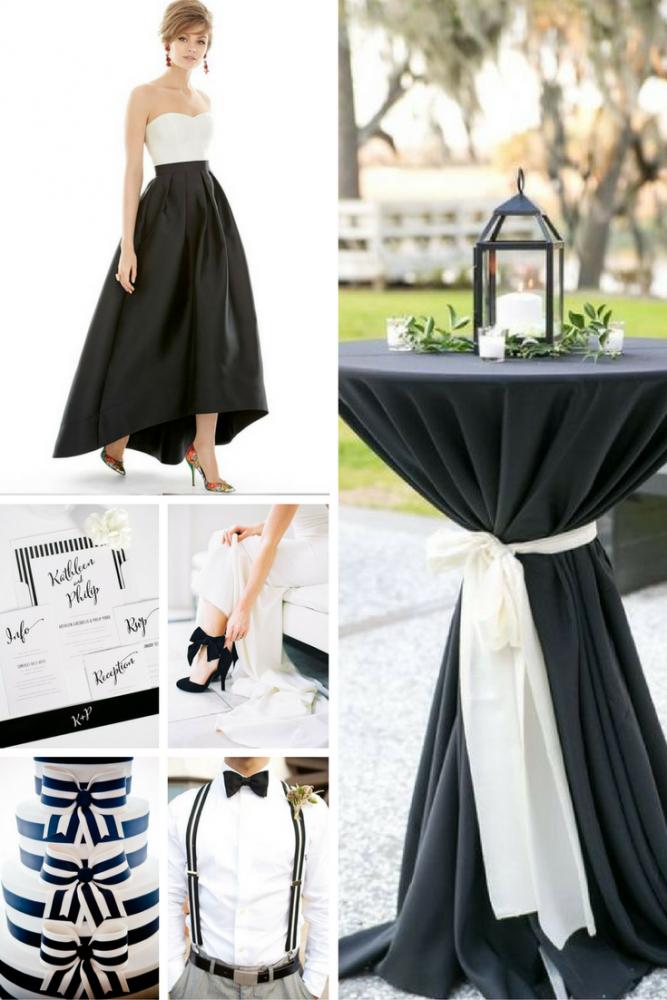 Black & White Wedding Inspiration from Burgh Brides