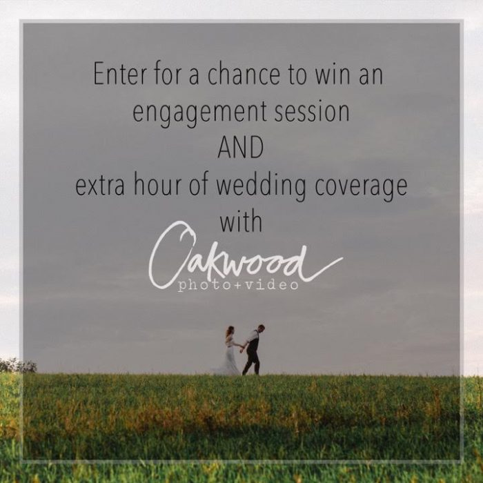Win an Engagment Session from Oakwood Photo & Video