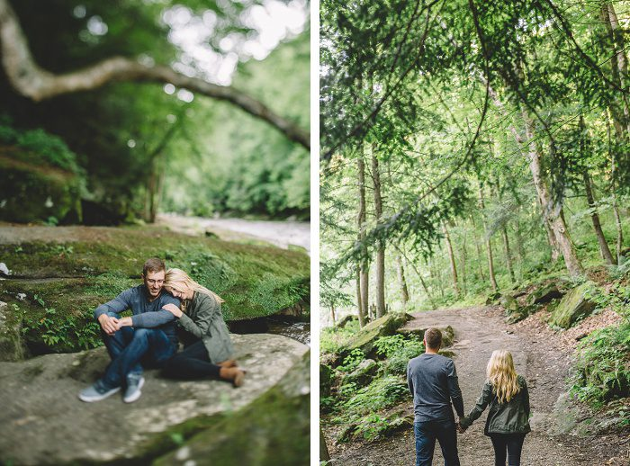 Casual Outdoor Engagement Session from Oakwood Photo + Video featured on Burgh Brides