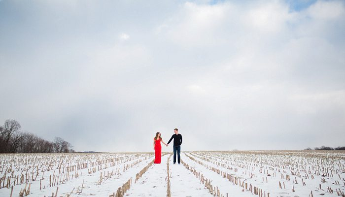 Picturesque Winter Engagement Session: Lyndsay & Justin