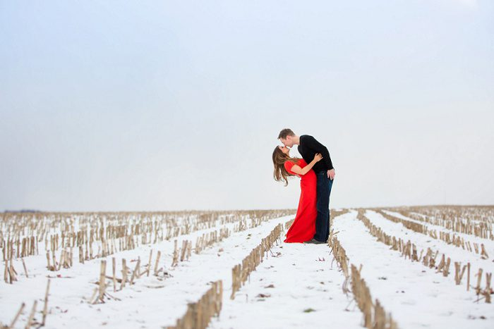Picturesque Winter Engagement Session from Jenna Hidinger Photography featured on Burgh Brides