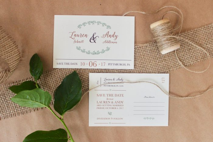 Wedding Save the Dates: 7 Tips for Totally Nailing Yours from Burgh Brides