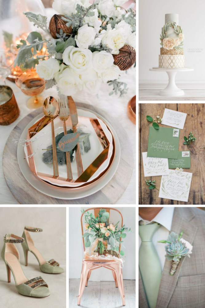 Sage, White, & Copper Wedding Inspiration from Burgh Brides