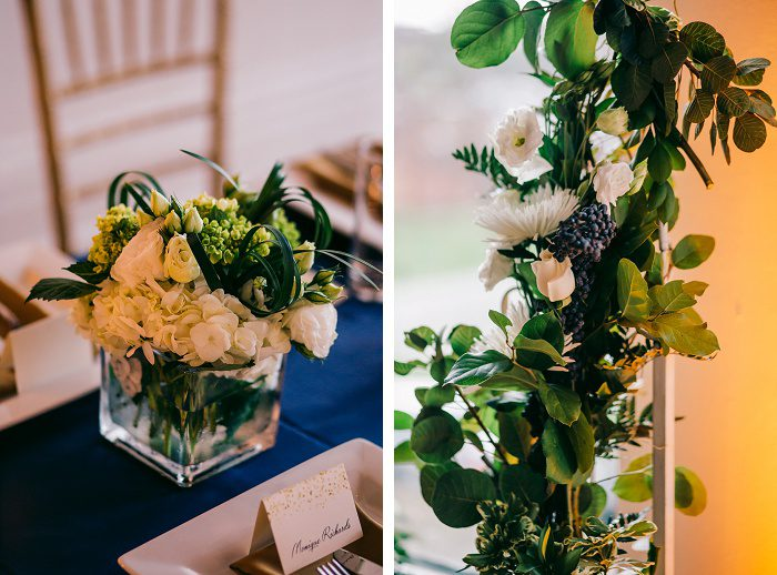 Intimate Blue & Gold Wedding from Steven Dray Images featured on Burgh Brides