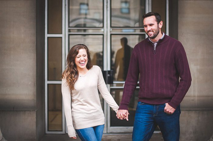 Adorable Rainy Engagement Session from Palermo Photo featured on Burgh Brides