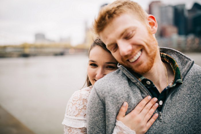 Cozy & Playful Engagement Session from Tyler Norman Photography featured on Burgh Brides
