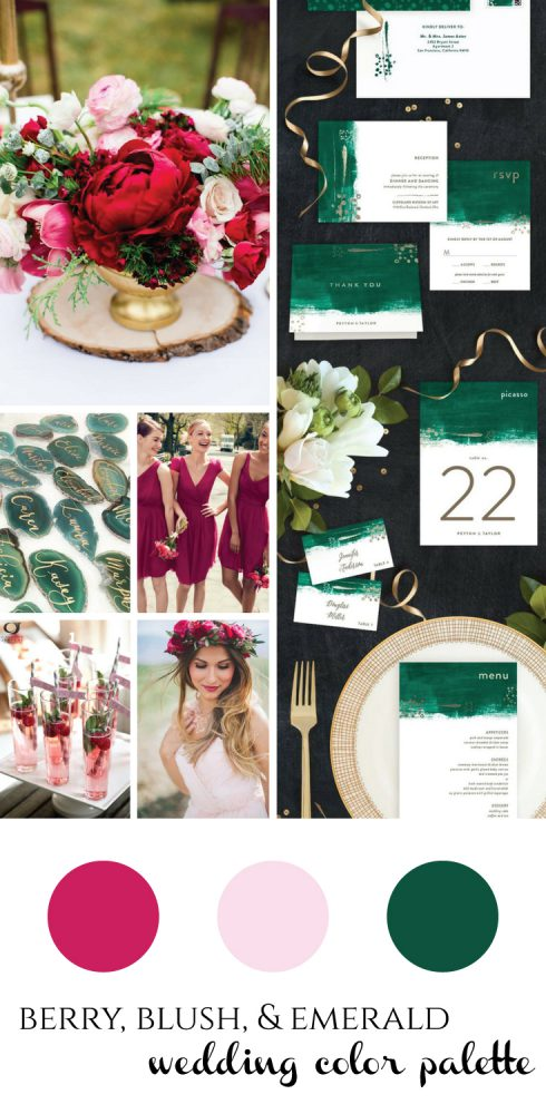 Berry, Blush, & Emerald Wedding Inspiration from Burgh Brides