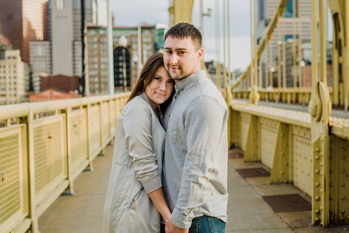 Gritty Engagement Session on the North Side of Pittsburgh from Oakwood Photo + Video featured on Burgh Brides