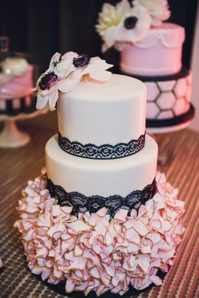 Modern Blush Pink & Black Wedding from Amber Marie Photography featured on Burgh Brides