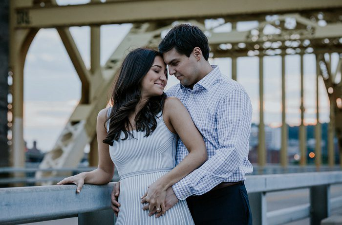 Summer in the City Engagement Session from Kayla Bri Photography featured on Burgh Brides
