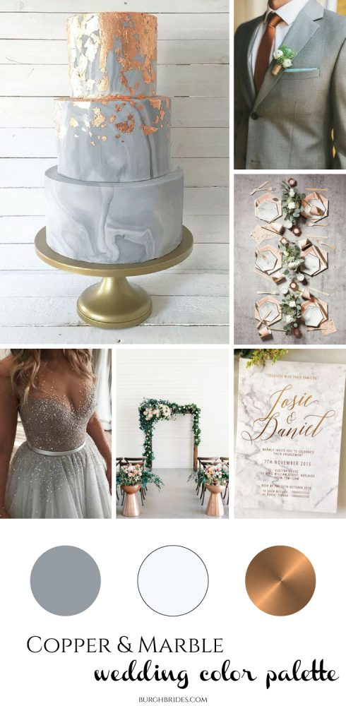 Copper & Marble Wedding Inspiration from Burgh Brides