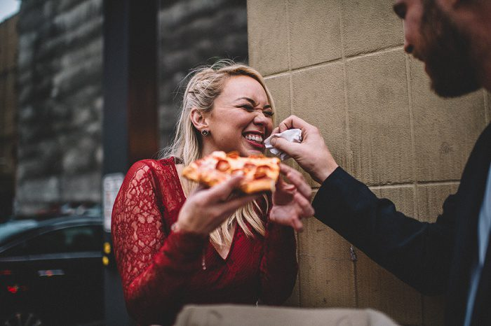 Cool AF City Engagement Session from Requiem Images featured on Burgh Brides
