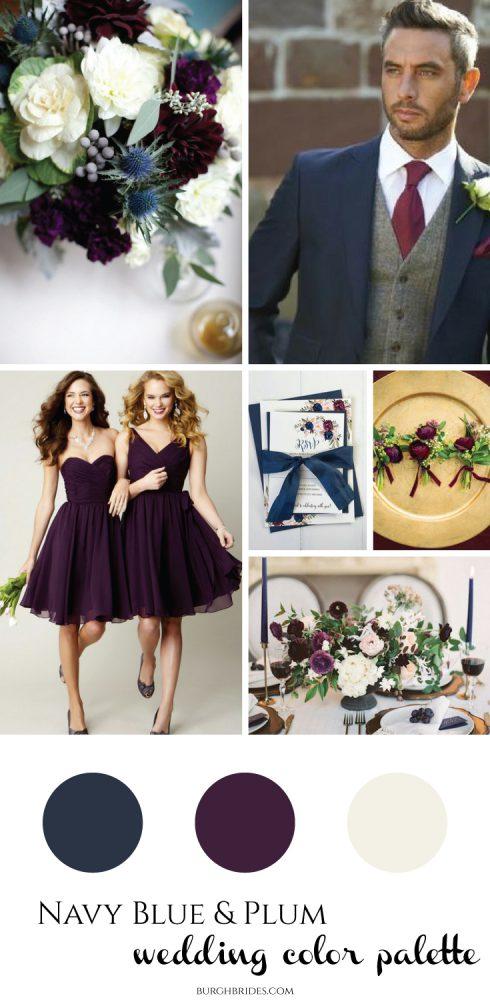 Navy Blue & Plum Wedding Inspriation from Burgh Brides