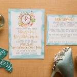Watercolor Wedding Invitations: Blue Beach Inspired Wedding from Leeann Marie, Wedding Photographers featured on Burgh Brides