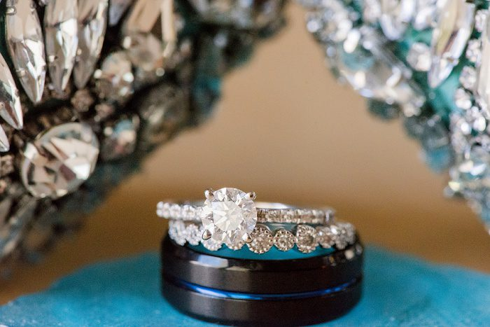 Round Diamond Engagement Ring: Blue Beach Inspired Wedding from Leeann Marie, Wedding Photographers featured on Burgh Brides