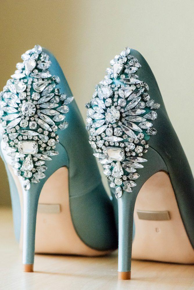 Rhinestone Wedding Shoes: Blue Beach Inspired Wedding from Leeann Marie, Wedding Photographers featured on Burgh Brides