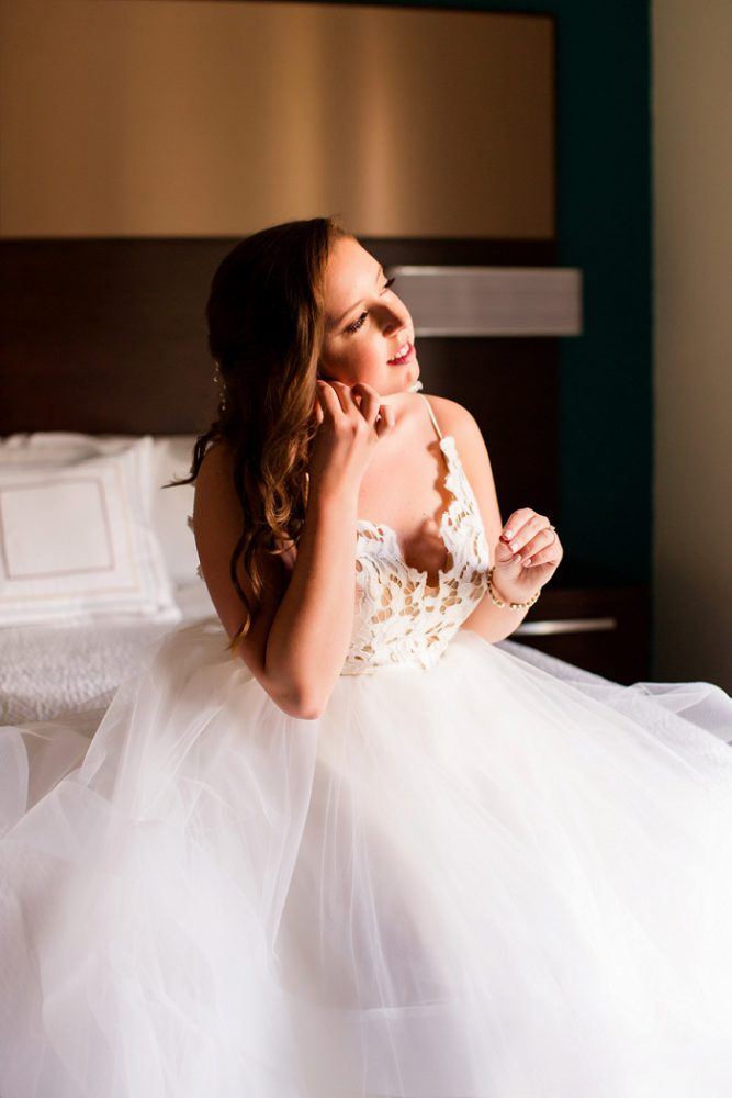 Tulle Wedding Dress: Blue Beach Inspired Wedding from Leeann Marie, Wedding Photographers featured on Burgh Brides