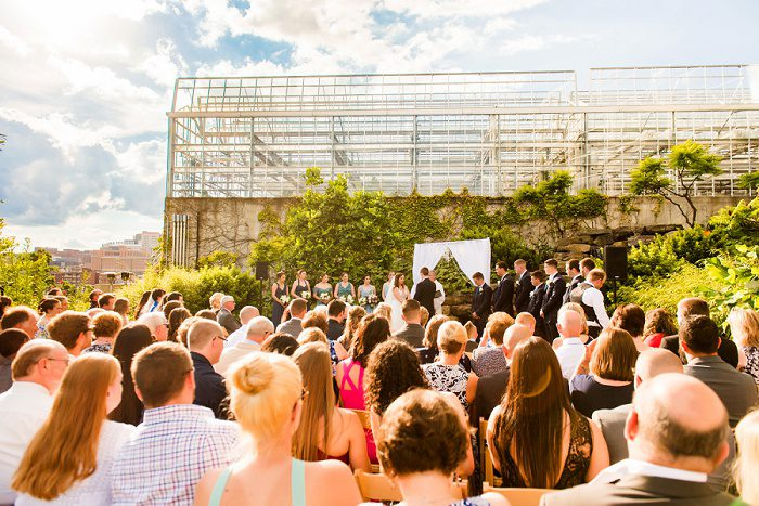 Outdoor Wedding Ceremony: Blue Beach Inspired Wedding from Leeann Marie, Wedding Photographers featured on Burgh Brides