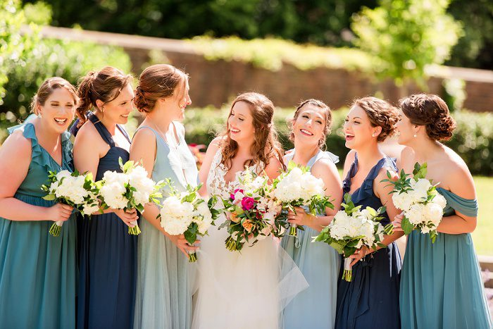Blue Bridesmaids Dresses: Blue Beach Inspired Wedding from Leeann Marie, Wedding Photographers featured on Burgh Brides