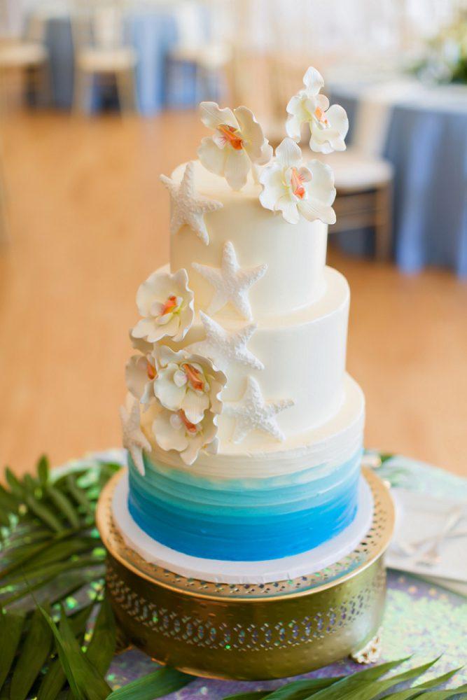 Beach Wedding Cake: Blue Beach Inspired Wedding from Leeann Marie, Wedding Photographers featured on Burgh Brides