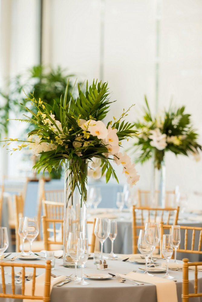 Wedding Centerpieces: Blue Beach Inspired Wedding from Leeann Marie, Wedding Photographers featured on Burgh Brides