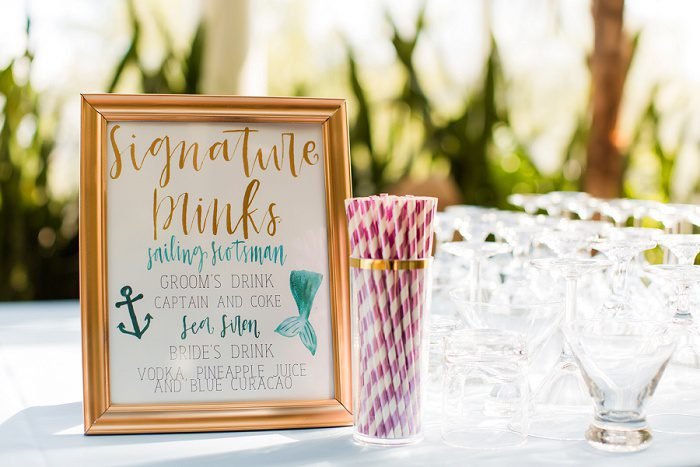 Wedding Signature Drinks: Blue Beach Inspired Wedding from Leeann Marie, Wedding Photographers featured on Burgh Brides