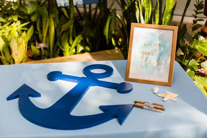 Wedding Guest Book: Blue Beach Inspired Wedding from Leeann Marie, Wedding Photographers featured on Burgh Brides