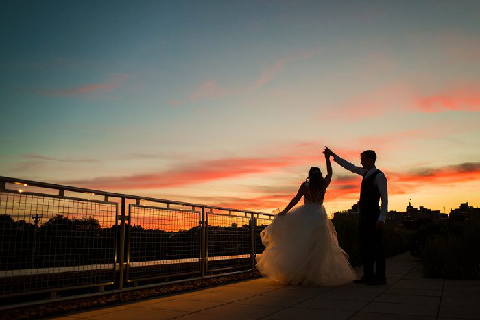 Sunset Bridal Portraits: Blue Beach Inspired Wedding from Leeann Marie, Wedding Photographers featured on Burgh Brides