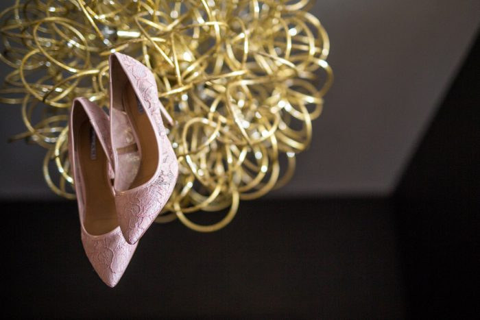 Pink Wedding Shoes: Blush Pink Outdoor Wedding at the Allegheny County Courthouse from Jenna Hidinger Photography featured on Burgh Brides
