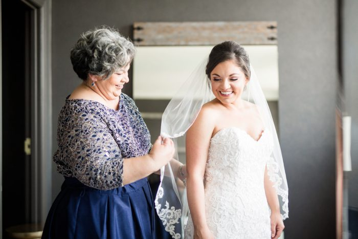 Lace Veil: Blush Pink Outdoor Wedding at the Allegheny County Courthouse from Jenna Hidinger Photography featured on Burgh Brides