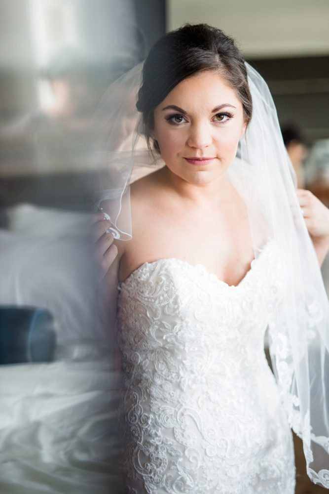 Sweetheart Neckline Wedding Dress: Blush Pink Outdoor Wedding at the Allegheny County Courthouse from Jenna Hidinger Photography featured on Burgh Brides